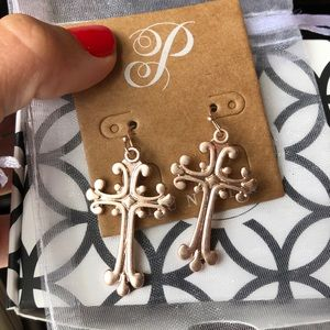 Plunder Cross Earrings